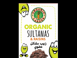 Organic Larder Sultanas With Raisins 6x14g