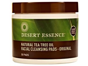 Dessert Essence Natural Tea Tree Oil Facial Cleansing Pads Original 50pads