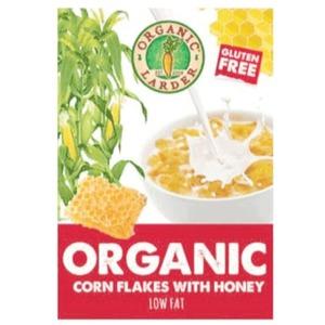Organic Larder Cornflakes With Honey 300g