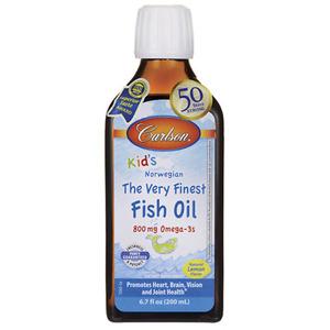 Carlson Kids Fish Oil Lemon Flavour 200ml