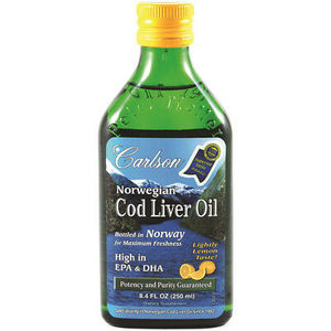 Carlson Fish Oil Omega 3S Lemon Flavour 200ml