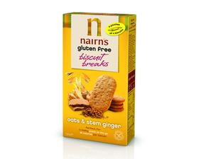 Nairns Biscuit Breaks Oats & Stem Ginger 160g