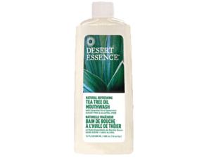 Dessert Essence Tea Tree Oil Mouthwash WithSpearmint 16oz