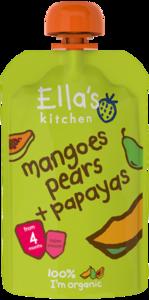Ellas Kitchen Mangoes Pears + Papaya 120g