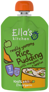 Ellas Kitchen Really Yummy Rice Pudding With Mangoes & Apples 80g