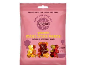 Biona Mini Fruit Bears 75g