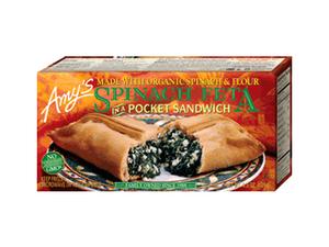 Amys Spinach Feta Pocket Sandwich 128g
