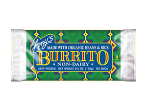 Amys Non Dairy Bean & Rice Burrito 170g