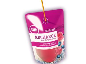 Sunblast Vitamin Water With Blueberry & Raspberry 10x200ml
