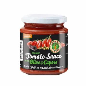 Organic Larder Tomato Sauce With Olive & Capers 300g