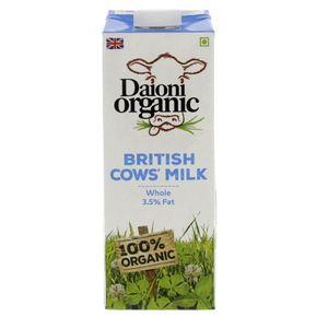 Daioni Organic British Cow Milk 3.5% Full Fat 1L