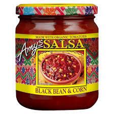 Amys Black Bean And Corn Salsa 496g