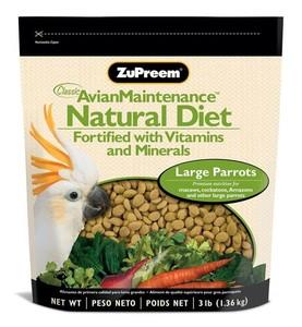 Zupreem Natural Avian Large Parrots Food 3lb