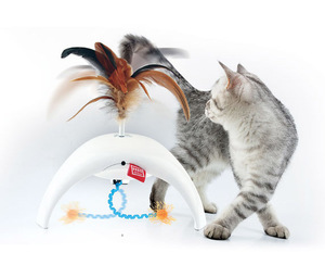 Gigwi Feather Spinner Pet Droid With Replacable 1pc