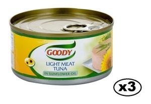 Goody Tuna Sunflakes 3x160g