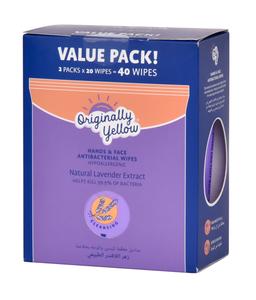 Originally Yellow Wipes Natural Lavender 2x20s