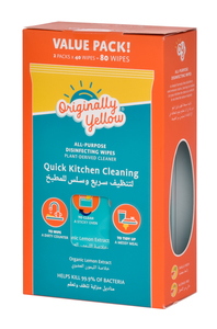 Originally Yellow Kitchen Cleaning Wipes 2x40s