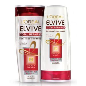 L'Oreal Total Repair Shampoo With Conditioner 2x400ml