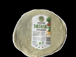 Organic Larder Tortillas With Spinach 450g