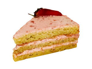 Strawberry Cake Slice 1s