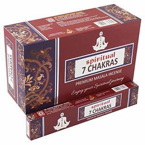 Spiritual Premium 7 Chakras Incense Sticks 12pc