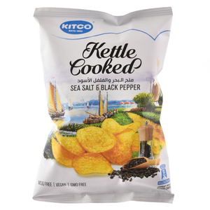 Kitco Kettle Cooked Sea Salt And Pepper 40g