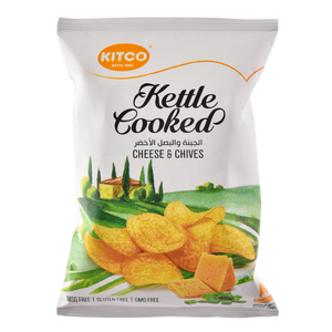 Kitco Kettle Cooked Cheese And Chives 150g