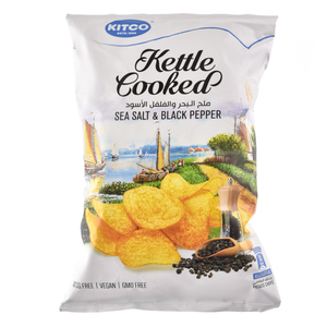Kitco Kettle Cooked Sea Salt And Pepper 150g