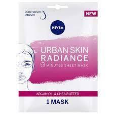 Nivea Urban Skin Radiance Face Sheet Mask Argan Oil & Shea Butter 1mask