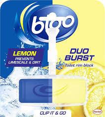 Bloo Duo Burst Lemon Toilet Rim Block 40g