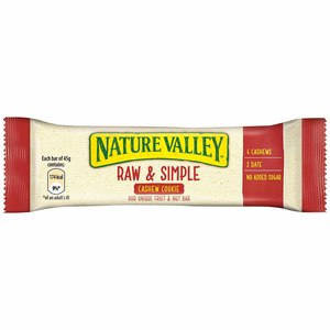 Nature Valley Raw & Simple Cashew Cookie Bar 45g