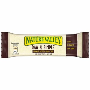 Nature Valley Raw & Simple Peanut Butter Chocolate Chip Bar 45g