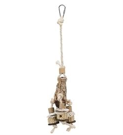 Trixie Natural Toy With Mahogany Pod 30cm