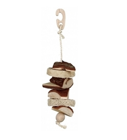 Trixie Natural Living Wood Toy With Luffa Bell 33cm