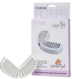 Pioneer Pet Filters For Ceramic And Stainless Steel Fountains 3pack