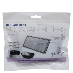 Pioneer Pet Filters For Plastic Or Stainless Steel Fountains 3pack