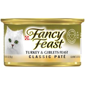 Purina Fancy Feast Classic Turkey & Giblets Wet Cat Food 85g