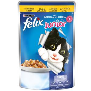 Felix Junior As Good As It Looks Chicken Wet Cat Food Pouch 100g