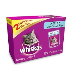 Whiskas Jelly With Ocean Fish 12x85g
