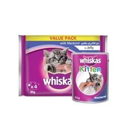 Whiskas Kitten Jelly With Mackarel Pack 4x85g
