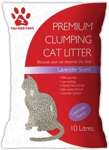 Thunder Paws Clumping Cat Litter Lavender Scent 10L