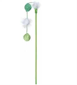 Trixie Green Playing Rod With Balls 42cm