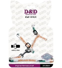 D&D Cat Walk Harness & Lead Set White 18-28cm