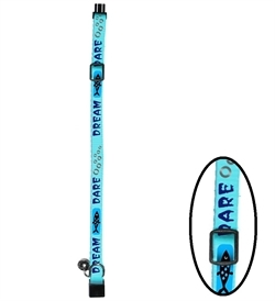 D&D Cat-Walk Wild Fish Reflective Cat Collar Light Blue 18-30cm