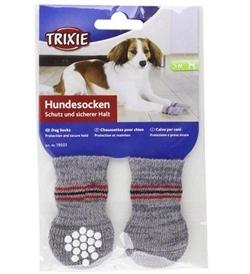 Trixie Grey Dog Socks Extra Small - Small 2pcs