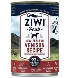 Ziwipeak Moist Venison For Dogs 390g