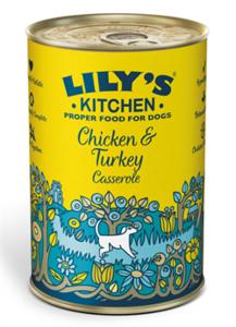 Lilys Kitchen Homestyle Chicken & Turkey Casserole 400g