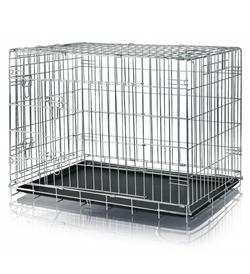 Trixie Galvanized 2 Door Wire Crate 64x54x48cm