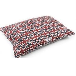 Mutts&Hounds Union Jack Linen Pillow Dog Bed Medium 60cm