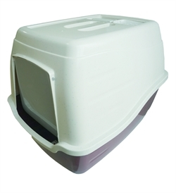 Thunder Paws Misty Cat Litter Box With Scoop Burgundy 50x40x39cm